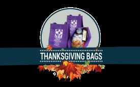Thanksgiving Brings a Sea of Purple Bags